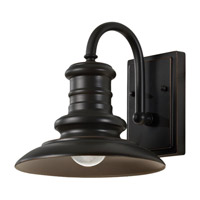 Redding Station LED 10 inch Restoration Bronze Outdoor Wall Lantern in Integrated LED