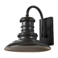 Feiss Redding Station 1 Light Outdoor Wall Lantern in Restoration Bronze OL8601RSZ-F