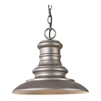 Redding Station 1 Light 12 inch Tarnished Outdoor Pendant in Fluorescent