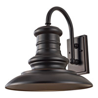 Redding Station 1 Light 16 inch Restoration Bronze Outdoor Wall Lantern in Fluorescent