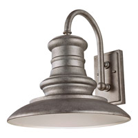 Feiss OL9004TRD Redding Station 1 Light 16 inch Tarnished Outdoor Wall Sconce in Standard