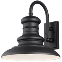 Feiss OL9004TXB Redding Station 1 Light 16 inch Textured Black Outdoor Wall Sconce