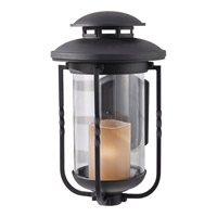 Feiss Menlo Park 1 Light Outdoor Wall Sconce in Textured Black OL9204TXB