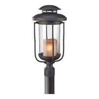 Feiss Menlo Park 1 Light Post Lantern in Textured Black OL9208TXB