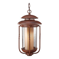 Feiss Menlo Park 1 Light Outdoor Hanging Lantern in Cinnamon OL9211CN photo thumbnail