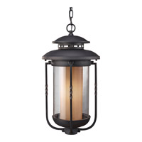 Feiss Menlo Park 1 Light Outdoor Hanging Lantern in Textured Black OL9211TXB