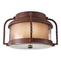 Feiss Menlo Park 2 Light Outdoor Flush Mount in Cinnamon OL9213CN
