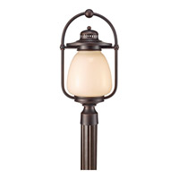 Mc Coy 1 Light 21 inch Grecian Bronze Outdoor Post Lantern in Fluorescent