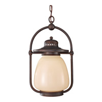 McCoy 1 Light 11 inch Grecian Bronze Outdoor Hanging Lantern in Standard