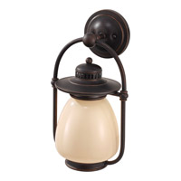 Mc Coy 1 Light 16 inch Grecian Bronze Outdoor Wall Lantern in Fluorescent
