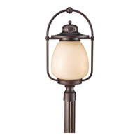 Mc Coy 1 Light 23 inch Grecian Bronze Outdoor Post Lantern in Fluorescent
