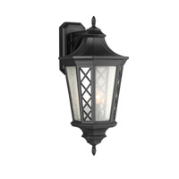 Wembley Park 3 Light 25 inch Textured Black Outdoor Lantern Wall Sconce