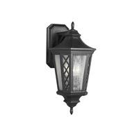 Wembley Park 3 Light 20 inch Textured Black Outdoor Lantern Wall Sconce