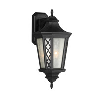 Wembley Park 3 Light 24 inch Textured Black Outdoor Lantern Wall Sconce