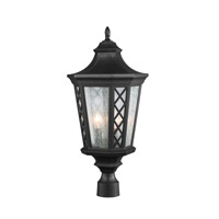 Wembley Park 3 Light 25 inch Textured Black Outdoor Lantern Post Mount