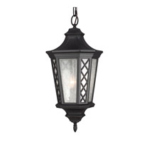 Wembley Park 3 Light 12 inch Textured Black Outdoor Lantern Hanging