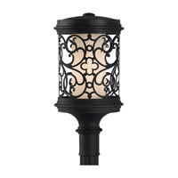 Feiss Costa Del Luz 1 Light Post Lantern in Black OLPL10109BK