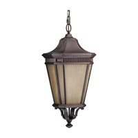 Feiss Cotswold Lane 1 Light Outdoor Hanging Lantern in Corinthian Bronze OLPL5812CB photo thumbnail
