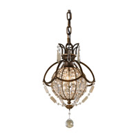 Feiss P1178OBZ/BRB Bellini 1 Light 9 inch Oxidized Bronze and British Bronze Mini Pendant Ceiling Light photo thumbnail