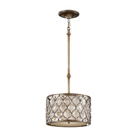 Feiss Lucia 1 Light Pendant in Burnished Silver P1259BUS-F