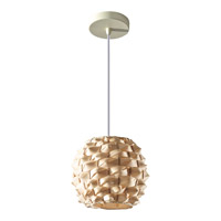 Feiss Denmark 1 Light Mini Pendant in Natural Bamboo P1272NB