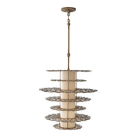 Lucia 2 Light 24 inch Burnished Silver Mini-Pendant Ceiling Light in Fluorescent