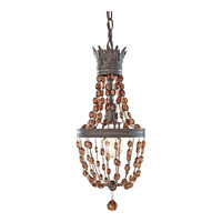 Feiss P1277RI Marcia 1 Light 8 inch Rustic Iron Mini Chandelier Ceiling Light in Standard