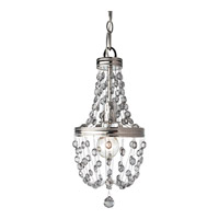 Malia 1 Light 8 inch Polished Nickel Mini Chandelier Ceiling Light in Standard