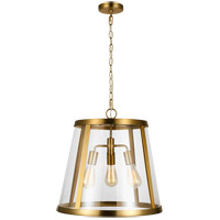 Feiss P1288BBS Harrow 3 Light 19 inch Burnished Brass Pendant Ceiling Light