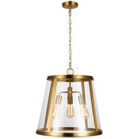 Feiss P1288BBS Harrow 3 Light 19 inch Burnished Brass Pendant Ceiling Light