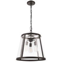Feiss P1288ORB Harrow 3 Light 19 inch Oil Rubbed Bronze Pendant Ceiling Light