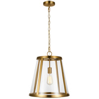 Feiss P1289BBS Harrow 1 Light 16 inch Burnished Brass Pendant Ceiling Light