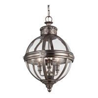 Feiss P1294ANL Adams 3 Light 15 inch Antique Nickel Pendant Ceiling Light