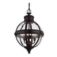 Feiss P1294ORB Adams 3 Light 15 inch Oil Rubbed Bronze Pendant Ceiling Light