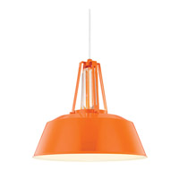 Feiss Freemont LED Pendant in Hi Gloss Orange P1304SHOG-LA