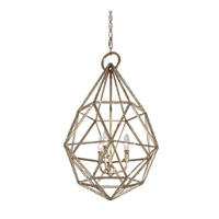 Feiss P1312BUS Marquise 3 Light 18 inch Burnished Silver Pendant Ceiling Light