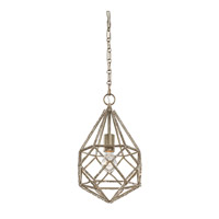 Feiss Marquise 1 Light Pendant in Burnished Silver P1313BUS