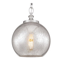 Feiss P1317PN Tabby 1 Light 12 inch Polished Nickel Pendant Ceiling Light Silver Mercury Plating Glass