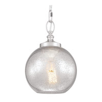 Feiss P1318PN Tabby 1 Light 9 inch Polished Nickel Pendant Ceiling Light Silver Mercury Plating Glass