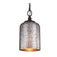 Feiss P1320ORB Hounslow 1 Light 7 inch Oil Rubbed Bronze Pendant Ceiling Light Brown Mercury Plating Glass