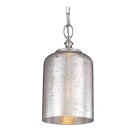 Hounslow 1 Light 7 inch Polished Nickel Pendant Ceiling Light in Standard, Silver Mercury Plating Glass
