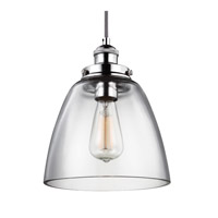 Feiss Baskin 1 Light Pendant in Polished Nickel P1347PN