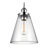 Feiss Baskin 1 Light Pendant in Polished Nickel P1348PN