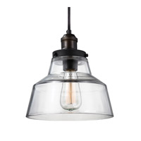 Feiss Baskin 1 Light Pendant in Painted Aged Brass / Dark Weathered Zinc P1349PAGB/DWZ