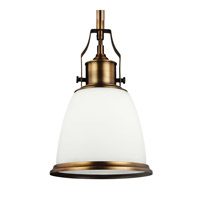 Feiss P1351AGB Hobson 1 Light 8 inch Aged Brass Mini-Pendant Ceiling Light in Standard