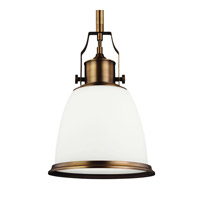 Feiss Hobson LED Pendant in Aged Brass P1352AGB-LA
