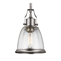 Hobson 1 Light 8 inch Satin Nickel Mini-Pendant Ceiling Light in Standard