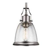Feiss P1354SN Hobson 1 Light 8 inch Satin Nickel Mini-Pendant Ceiling Light