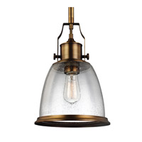 Feiss Hobson 1 Light Pendant in Aged Brass P1355AGB-F