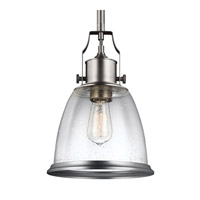 Hobson LED 10 inch Satin Nickel Pendant Ceiling Light in Screw-in LED